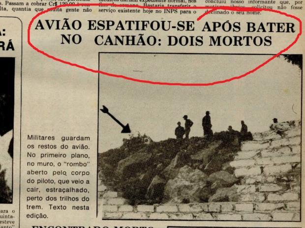 Memória: desastre aéreo mobiliza o quartel em 1975 Acervo Centro de Memória da Câmara de Vereadores de Caxias do Sul / reprodução/reprodução