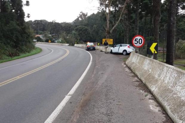 Saída de pista deixa homem gravemente ferido em São Marcos PRF/Divulgação
