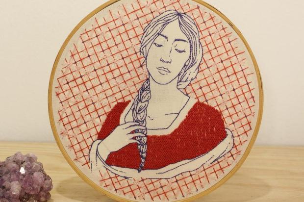 3por4: Alouca Café, em Caxias, recebe exposição de bordados feministas Sharizy Pezzi/Divulgação
