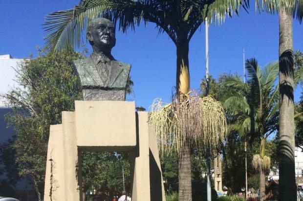 Um ano depois, sumiço de monumento de 50 quilos segue sem respostas em Caxias do Sul Suelen Mapelli/Gaúcha Serra