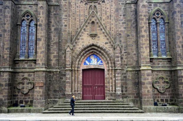 """Queríamos trazer de volta a originalidade"", diz arquiteto do restauro de Catedral de Vacaria Roni Rigon/Agencia RBS"