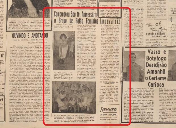 Memória: Grupo de Bolão Feminino Imperatriz em 1958 Acervo Centro de Memória da Câmara de Vereadores de Caxias do Sul / reprodução/reprodução
