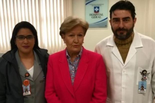Senadora Ana Amélia recebe alta do Hospital Geral, em Caxias Facebook/Reprodução