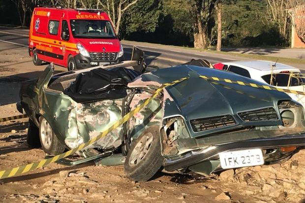 Homem morre em colisão lateral na Rota do Sol, em Garibaldi Altamir Oliveira/Rádio Estação FM