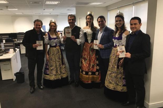 Rainha e princesas da Festa da Uva iniciam divulgação do evento em São Paulo Mateus Pagot Gobbi/Divulgação