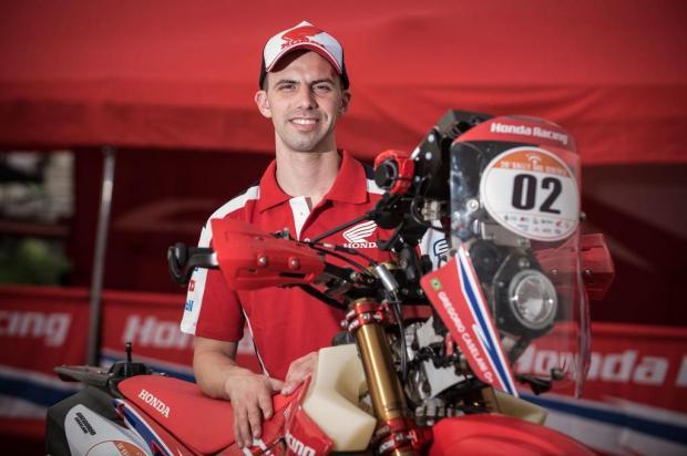 Gregorio Caselani fecha o Rally dos Sertões na terceira colocação nas motos Gustavo Epifanio/Mundo Press,Divulgação