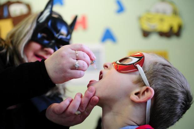 Dia D da vacinação contra a pólio e o sarampo tem boa adesão em Caxias do Sul Felipe Nyland/Agencia RBS
