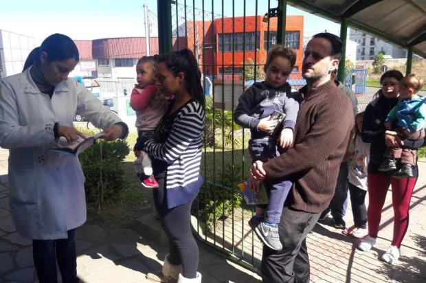Mais de 5 mil crianças são imunizadas em ação contra a polio e o sarampo em Caxias Andressa Boeira/Divulgação