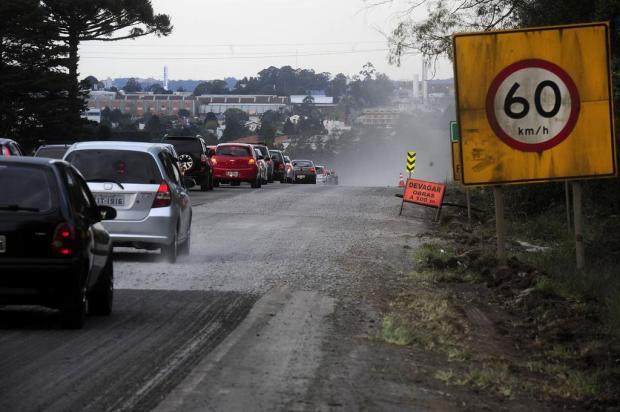 Obras na ERS-122, entre Caxias e Farroupilha, devem seguir por pelo menos um mês Marcelo Casagrande/Agencia RBS