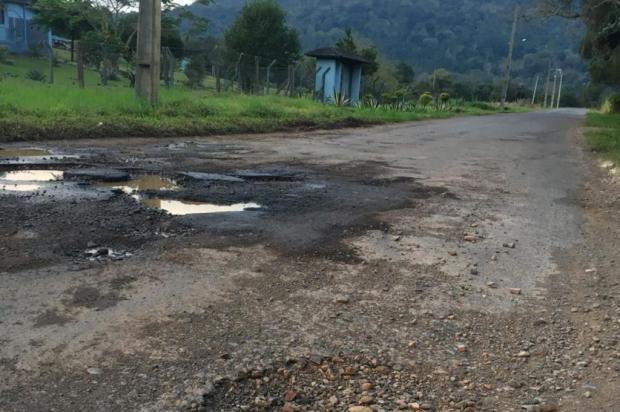 Buracos em rodovia no interior de Nova Petrópolis geram reclamação de moradores Solange Uez/Divulgação