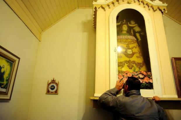 Mesmo em dia de festa, santa não sai de sacristia em Monte Bérico, em Caxias do Sul Lucas Amorelli/Agencia RBS