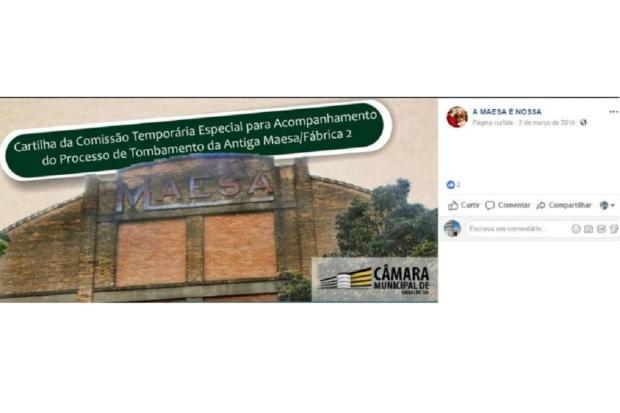 Mirante: página sobre a Maesa usada para propaganda eleitoral Facebook / Reprodução/Reprodução