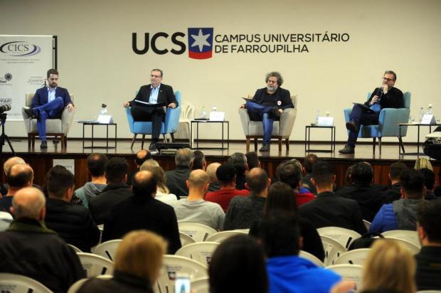 O que os candidatos a governador disseram sobre segurança no painel em Farroupilha Porthus Junior/Agencia RBS