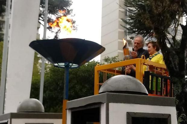 Acendimento da chama simbólica abre Semana da Pátria em Caxias do Sul Alison Oliveira/Agência RBS