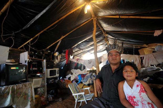 Indígenas querem aldeia em local destinado à passagem em Bento Gonçalves Felipe Nyland/Agencia RBS