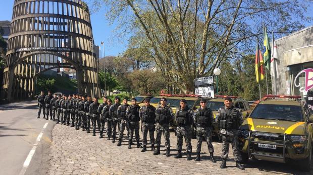 Com foco nas facções, reforço quer evitar novo recorde de mortes em Bento Gonçalves Brigada Militar / Divulgação/Divulgação