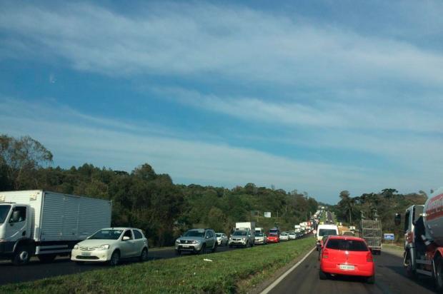 Obras na ERS-122 provocam congestionamento entre Caxias e Farroupilha Diogo Sallaberry / Agência RBS/Agência RBS