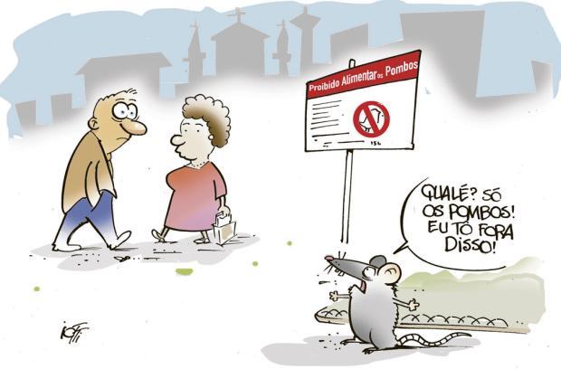 Iotti: proibido alimentar os pombos Iotti/