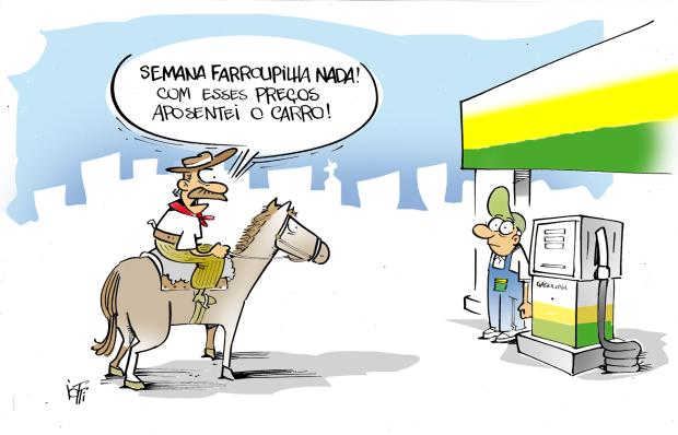 Iotti: semana farroupilha e o preço da gasolina Iotti / Agência RBS/Agência RBS