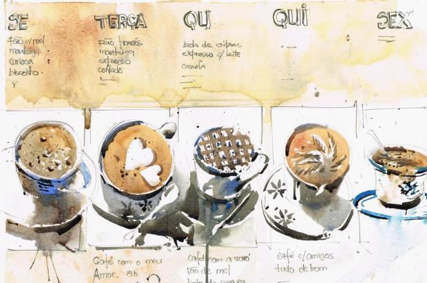 Café inspira aquarelas de Antonio Giacomin em exposição na Casa Cor Rio de Janeiro reprodução/reprodução