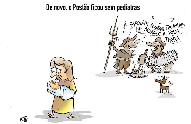 Iotti: sem pediatra no Postão Iotti / Agência RBS/Agência RBS