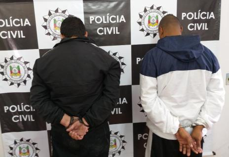 Operação prende dois integrantes de quadrilha investigada por ataques a bancos na Serra (Polícia Civil/Divulgação/)