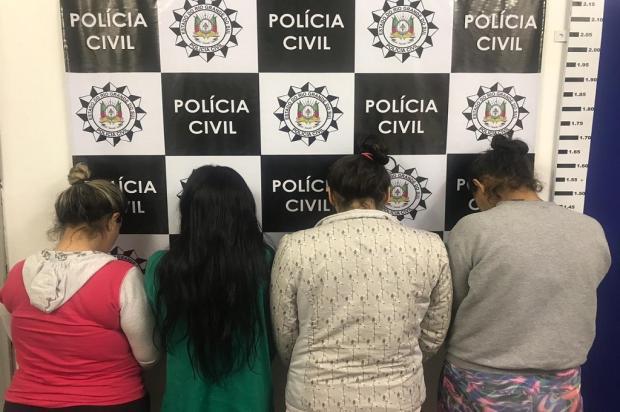 Quatro mulheres e um adolescente são detidos por apoio à facção em Caxias do Sul Polícia Civil  / Divulgação /Divulgação