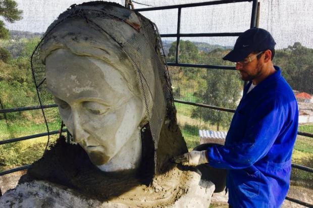 Restauração da imagem de Caravaggio, em Farroupilha, está 70% pronta Mateus Frazão/Agencia RBS