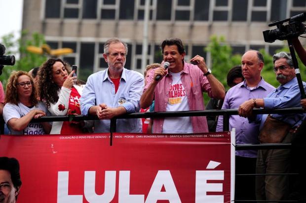 """Estaremos juntos no segundo turno"", diz Haddad em Caxias do Sul sobre PDT Diogo Sallaberry/Agencia RBS"