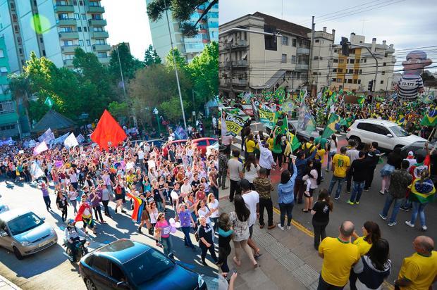Mirante: divisão política leva eleitores de volta às ruas de Caxias do Sul Montagem sobre as fotos de Marcelo Pedroso (Divulgação) e Felipe Nyland (Agência RBS)/