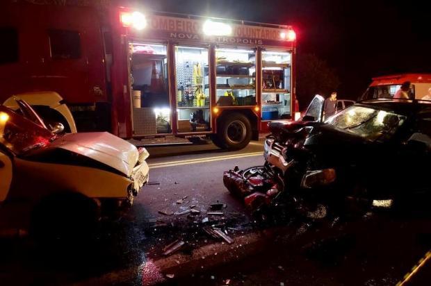 Bombeiros atendem acidente com feridos na ERS-235, em Nova Petrópolis Bombeiros Voluntários de Nova Petrópolis/Divulgação