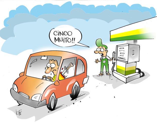 Iotti: a facada no preço da gasolina Arte / Agência RBS/Agência RBS