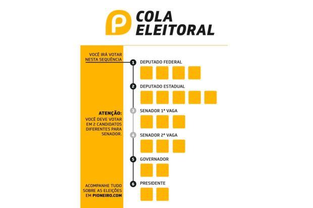 Cola eleitoral: imprima e preencha com os dados dos seus candidatos Reprodução/