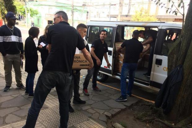Justiça Eleitoral distribui urnas nos 163 locais de votação em Caxias do Sul Leonardo Lopes/Agência RBS