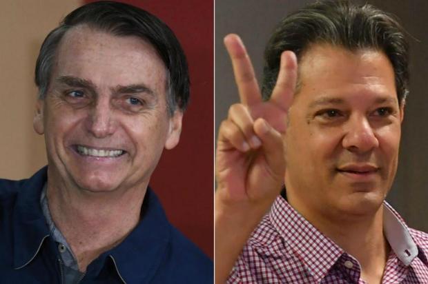 Bolsonaro e Haddad decidirão eleição para presidente no segundo turno Divulgação/Divulgação