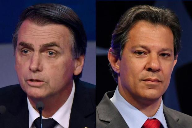 Mirante: expectativa diante do confronto entre Bolsonaro e Haddad NELSON ALMEIDA/AFP