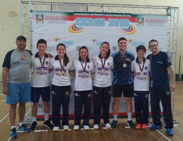 Seis atletas do badminton de Caxias do Sul vão participar dos Jogos Escolares da Juventude Divulgação/