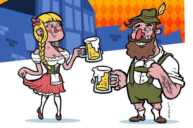 3por4: Cervejaria La Birra promove Oktoberfest em Caxias Arte de Charles Segat/Divulgação