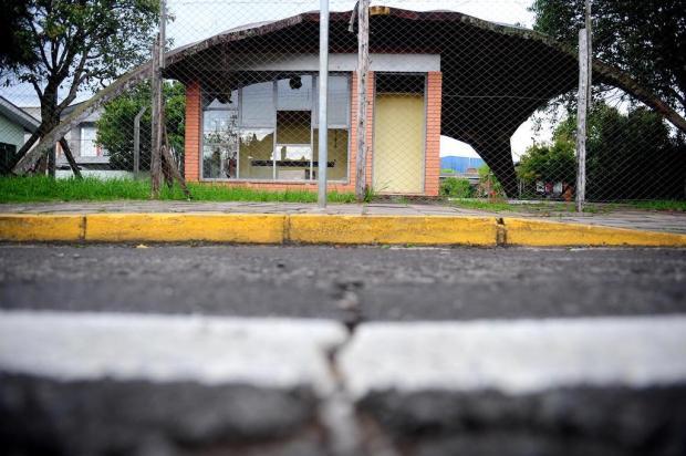 Antigo módulo da Brigada em Caxiasé alvo de depredação e invasão por usuários de drogas Lucas Amorelli/Agencia RBS