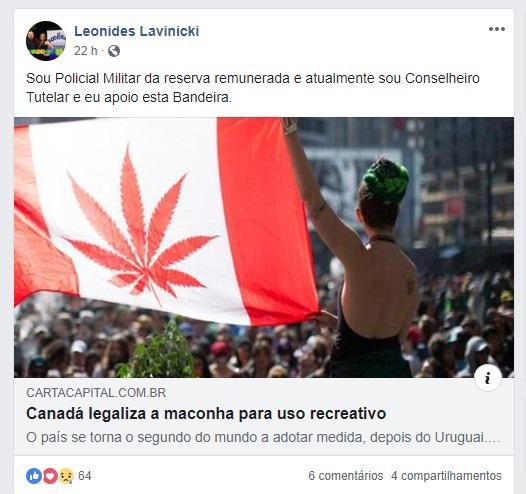 Manifestação de conselheiro tutelar sobre maconha repercute em Bento Gonçalves Reprodução/