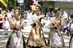 Soberanas da Festa da Uva 2019 de Caxias do Sul desfilam na Oktoberfest de Santa Cruz do Sul Rodrigo Assmann/divulgação