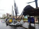 Temporal e vento forte causam estragos em Caxias do Sul e região.
