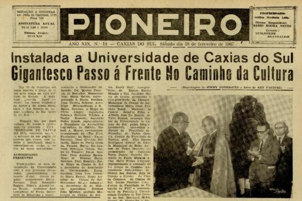 Pioneiro 70 anos: UCS, formação acadêmica e transformação cultural Reprodução/reprodução