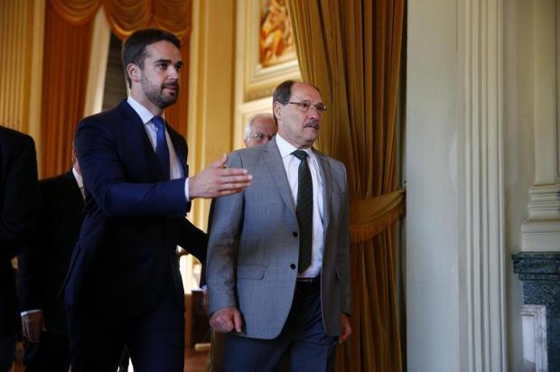 Mirante: encontro amistoso entre José Ivo Sartori e Eduardo Leite Félix Zucco/Agencia RBS