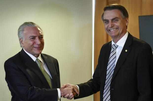 Temer se reúne com Jair Bolsonaro Evaristo Sá/AFP