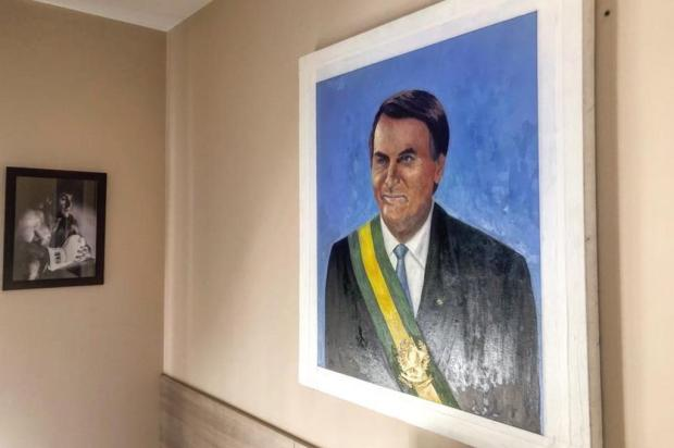 Mirante: Bolsonaro posta quadro com pintura da faixa presidencial Facebook/Reprodução