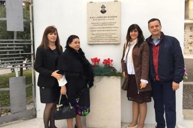 Raul Anselmo Randon recebe homenagens póstumas na Itália Paolo Meneghini/divulgação