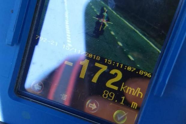 Excesso de velocidade foi infração mais recorrente nas rodovias estaduais da Serra Divulgação/Grupo Rodoviário da BM