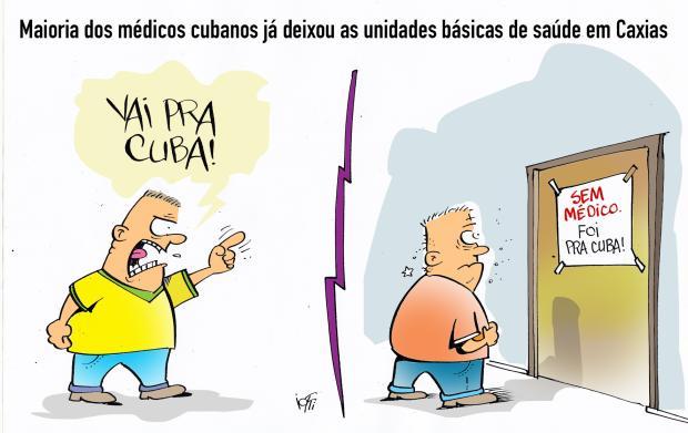 Iotti: médicos cubanos de saída de Caxias Iotti / Agência RBS /Agência RBS