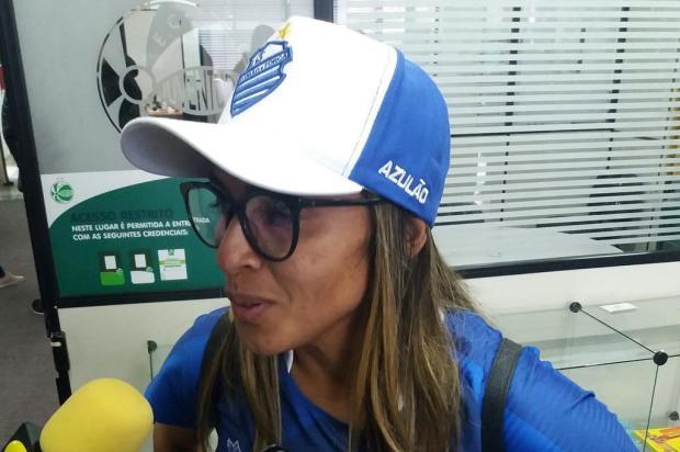 Melhor do mundo, Marta acompanha Juventude x CSA no Alfredo Jaconi Maurício Reolon/Agência RBS